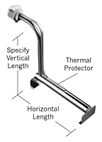 DL Series, Derated Metal L-Shaped Heaters