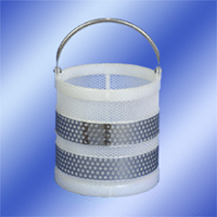 12 x 12 Polypro Baskets with Stainless Steel Handles & Stainless Steel Girth Supports