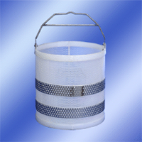 18 x 18 Polypro Baskets with Stainless Steel Handles & Stainless Steel Girth Supports
